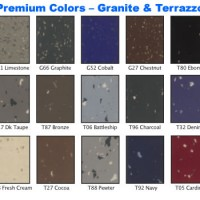 500-L Granite and Terrazzo Colors