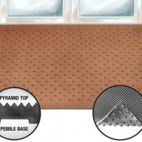 Pyramid Top Pebble Base Rubber Entrance Mat