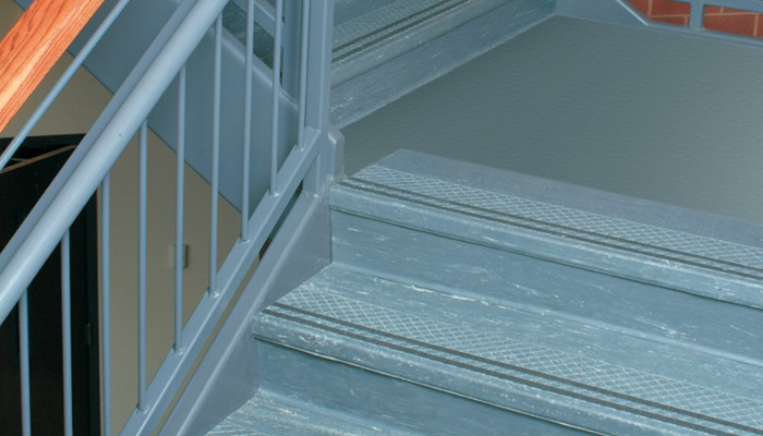 R.C. Musson Stair Tread with Grit Strips Staircase