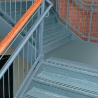 Stair Tread with Grit Strips Staircase